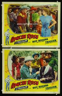 z010 APACHE ROSE 2 movie lobby cards '47 Roy Rogers & Dale Evans!