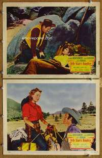 z097 BELLE STARR'S DAUGHTER 2 movie lobby cards '48 Roman, Montgomery