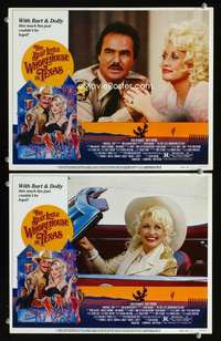 z101 BEST LITTLE WHOREHOUSE IN TEXAS 2 movie lobby cards '82Burt & Dolly
