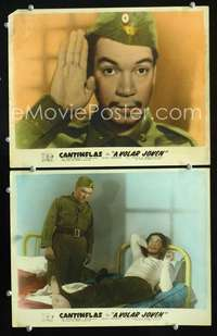 z034 A VOLAR JOVEN 2 movie Mexican lobby cards '47 Cantinflas in Army!