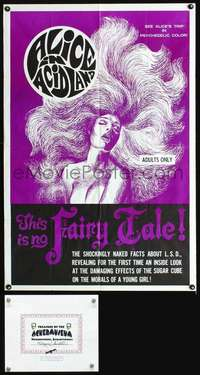 d002 ALICE IN ACIDLAND one-sheet movie poster '68 most classic drug movie!