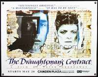 d072 DRAUGHTSMAN'S CONTRACT linen advance British quad movie poster R94