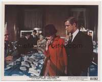 d018 BREAKFAST AT TIFFANY'S color 8x10 movie still '61Audrey w/jewelry