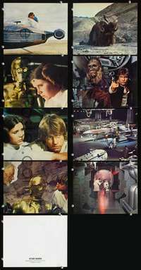 d029 STAR WARS 8 color 8x10 movie stills '77 George Lucas classic!