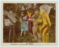 d012 WIZARD OF OZ color glos movie 8x10 still '39 cast on road!