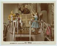 d014 WIZARD OF OZ color glos movie 8x10 still '39 Wizard and cast!