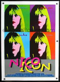 d063 NICO ICON linen English one-sheet movie poster '96 rock & roll doc!