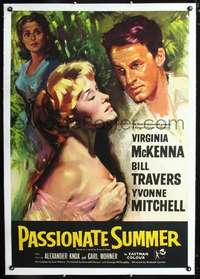d064 PASSIONATE SUMMER linen English one-sheet movie poster '58 McKenna