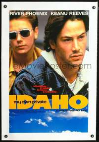 d068 MY OWN PRIVATE IDAHO linen English double crown movie poster '91