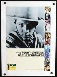 d066 FOUR HORSEMEN OF THE APOCALYPSE linen English 16x23 movie poster R90s