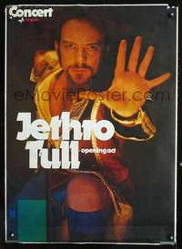 d006 JETHRO TULL German concert poster '70s great image!