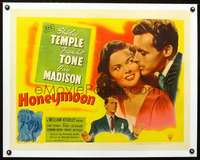 d044 HONEYMOON linen style B half-sheet movie poster '47 Shirley Temple, Madison
