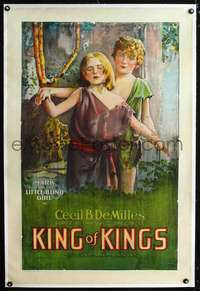 d495 KING OF KINGS linen one-sheet movie poster '27 Cecil B. DeMille epic!