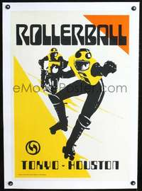 d055 ROLLERBALL linen special 20x29 movie poster '75 different art!