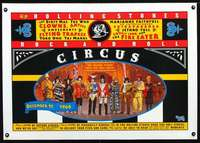d070 ROLLING STONES ROCK & ROLL CIRCUS linen English 24x35 movie poster '96
