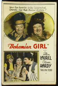 f023 BOHEMIAN GIRL Forty by Sixty movie poster '36 gypsies Laurel & Hardy!