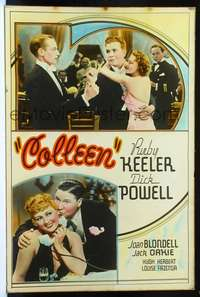 f025 COLLEEN Forty by Sixty movie poster '36 Dick Powell, Keeler, Blondell