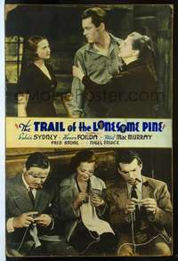 f029 TRAIL OF THE LONESOME PINE Forty by Sixty movie poster '36Sidney,Fonda