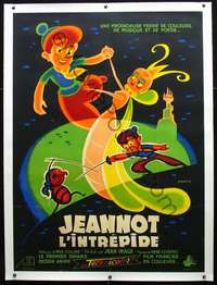 f052 JOHNNY THE GIANT KILLER linen French one-panel movie poster '53 Cerutti