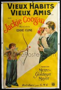 f043 OLD CLOTHES linen French one-panel movie poster '25 Coogan & Crawford!
