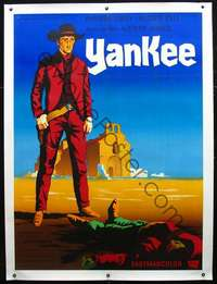 f050 YANKEE linen French one-panel movie poster '66 Guy Gerard Noel art!