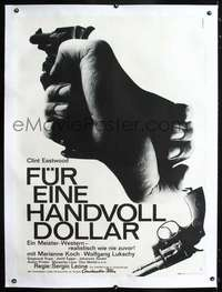 f059 FISTFUL OF DOLLARS linen German 33x47 movie poster '64 different!