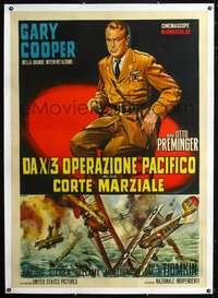 f074 COURT-MARTIAL OF BILLY MITCHELL linen Italian one-panel movie poster '56