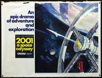 f005 2001: A SPACE ODYSSEY subway movie poster '68 Cinerama!