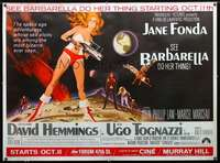 f006 BARBARELLA subway movie poster '68 Jane Fonda, Vadim