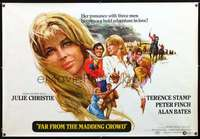 f011 FAR FROM THE MADDING CROWD subway movie poster '68 Christie