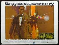 f019 FOR LOVE OF IVY subway movie poster '68 Sidney Poitier