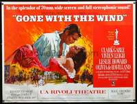 f009 GONE WITH THE WIND subway movie poster R68 Gable, Leigh