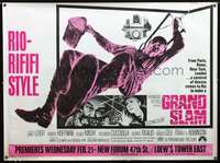 f017 GRAND SLAM subway movie poster '68 Janet Leigh, Robinson