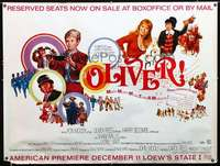 f007 OLIVER pre-Awards subway movie poster '68 Charles Dickens
