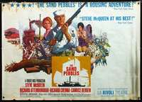 f012 SAND PEBBLES subway movie poster '67 McQueen by Terpning!