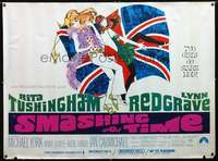 f018 SMASHING TIME subway movie poster '68 sexy swingers!