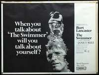 f016 SWIMMER subway movie poster '68 Lancaster, Frank Perry