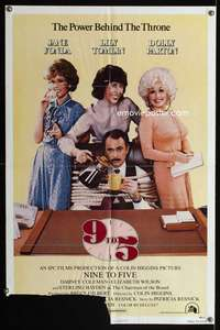 t010 9 TO 5 one-sheet movie poster '80 Dolly Parton, Jane Fonda, Lily Tomlin