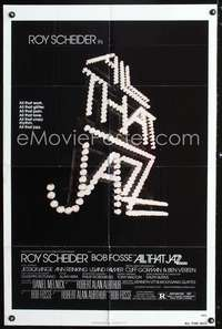t017 ALL THAT JAZZ one-sheet movie poster '79 Roy Scheider, Bob Fosse musical!
