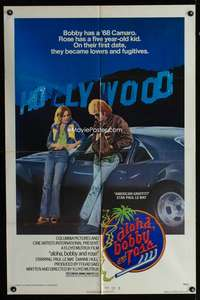 t019 ALOHA, BOBBY & ROSE one-sheet movie poster '75 Paul Le Mat by 1968 Chevy Camaro!