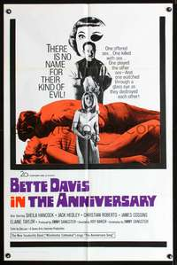 t025 ANNIVERSARY one-sheet movie poster '67 Bette Davis, horror comedy!