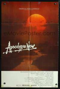 t029 APOCALYPSE NOW advance one-sheet movie poster '79 Francis Ford Coppola, great Bob Peak art!
