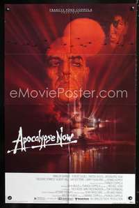 t028 APOCALYPSE NOW one-sheet movie poster '79 Marlon Brando, Francis Ford Coppola, Bob Peak art!