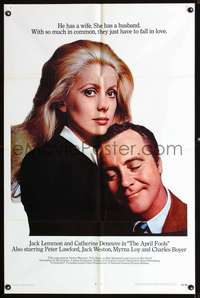 t031 APRIL FOOLS int'l one-sheet movie poster '69 Jack Lemmon, Catherine Deneuve