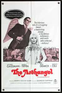 t032 ARCHANGEL one-sheet movie poster '69 Vittorio Gassman, sexy Pamela Tiffin!