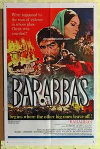 t044 BARABBAS one-sheet movie poster '62 Anthony Quinn, Silvana Mangano