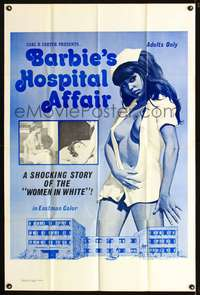 t046 BARBIE'S HOSPITAL AFFAIR one-sheet movie poster '70 sexiest half-dressed nurse artwork!