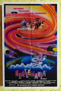 t051 BEATLEMANIA one-sheet movie poster '81 great artwork of The Beatles by Kim Passey!