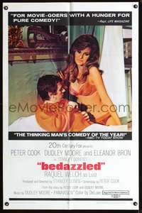 t053 BEDAZZLED one-sheet movie poster '68 Dudley Moore, sexy Raquel Welch as Lust!