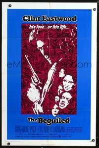 t056 BEGUILED one-sheet movie poster '71 Clint Eastwood, Geraldine Page, Don Siegel